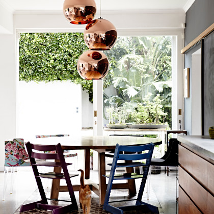 floral Philippe Starck chairs by Kartell