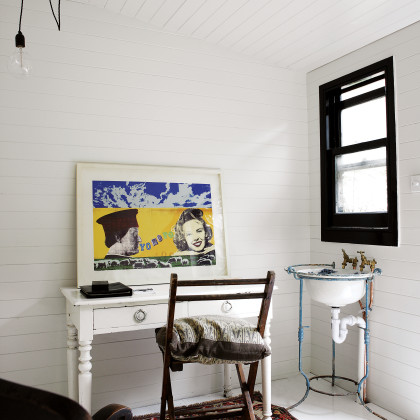 white wood panelled wall
