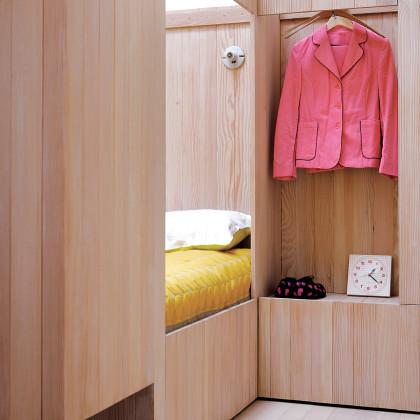 wood-clad walls
