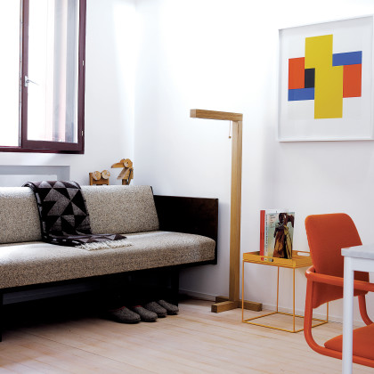 open-plan sitting room