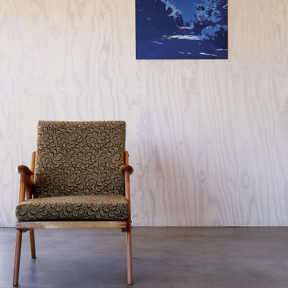 pine plywood clad wall