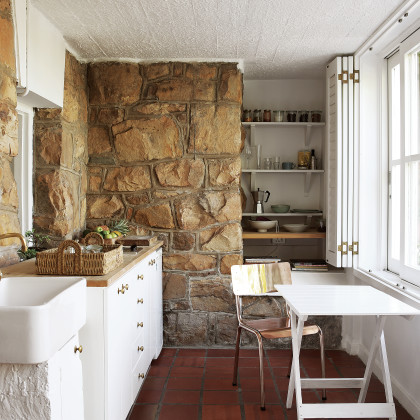 terracotta tile floor