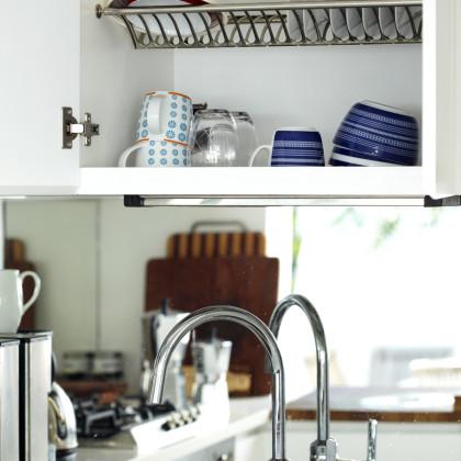concealed dish rack