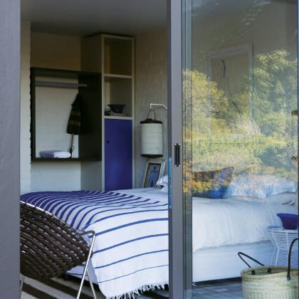striped bedspread