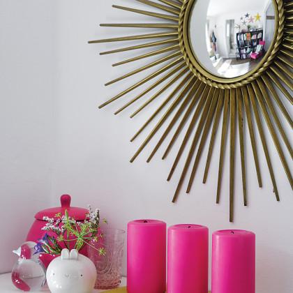 gilt starburst convex mirror