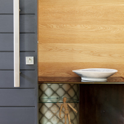 timber-clad wall