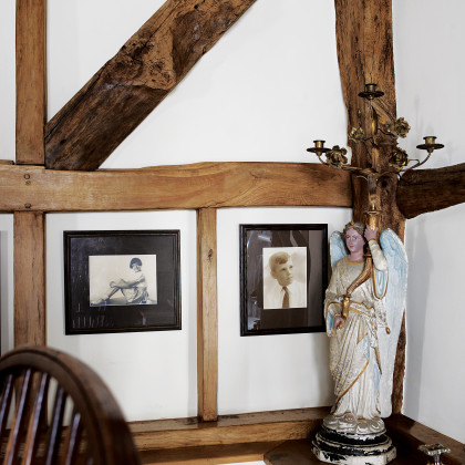 exposed internal wood beam