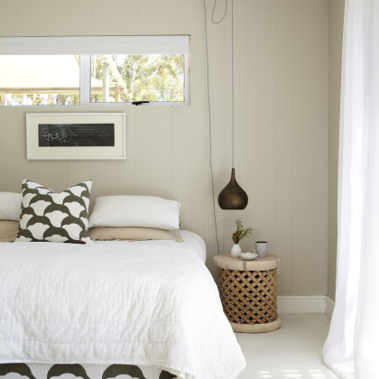 window above bed