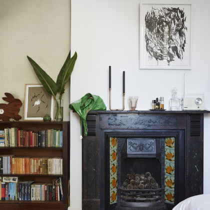 contemporary bare bulb bedside light