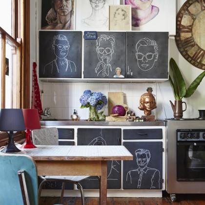 Gabrielle Guy chalkboard portraiture