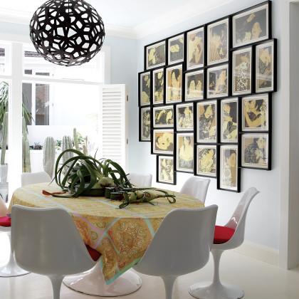 Tulip chair and table by Eero Saarinen