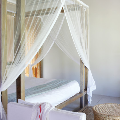 four-poster bed