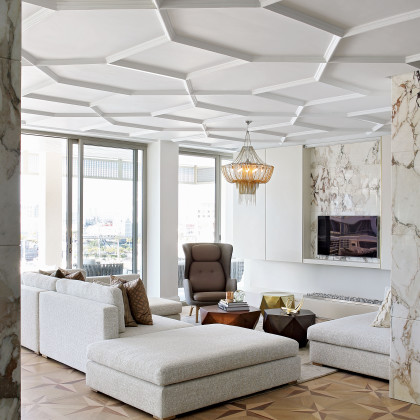 marble-clad pillar