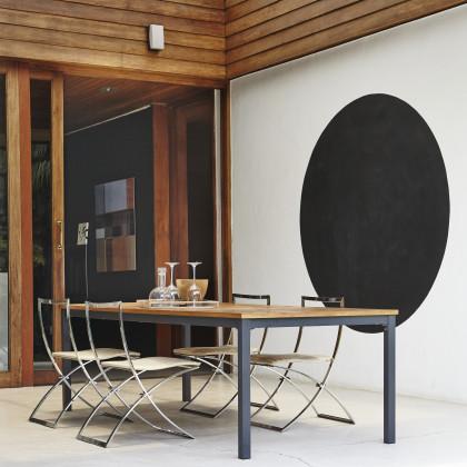 black circular wall motif
