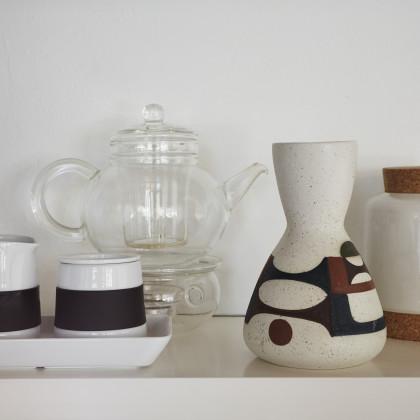ceramic storage jar with cork stopper