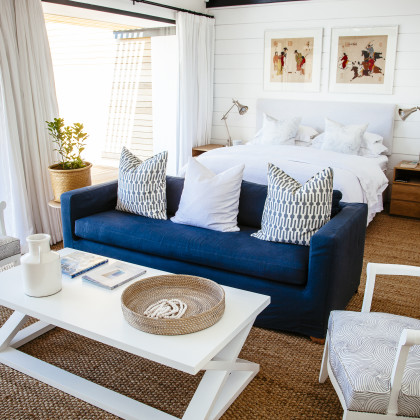 bedroom with sitting area