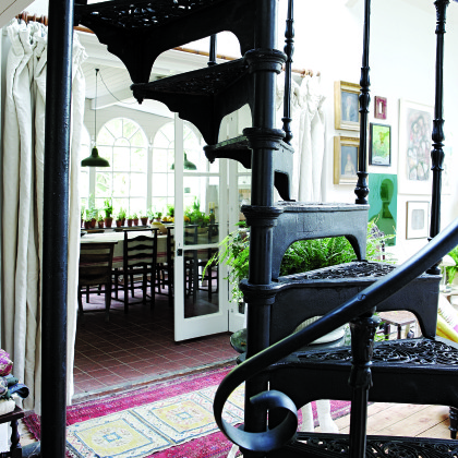 wrought iron staircase
