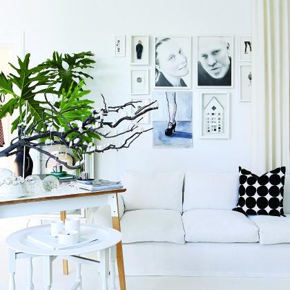 all-white interior